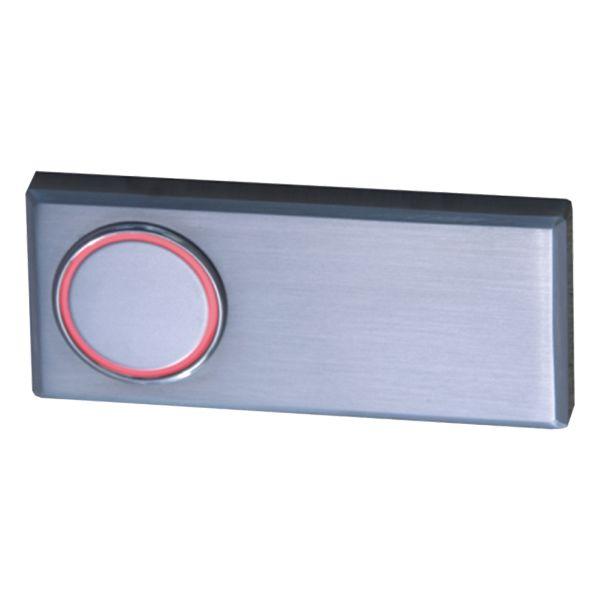 Türklingel aus Edelstahl mit rotem Leuchtring