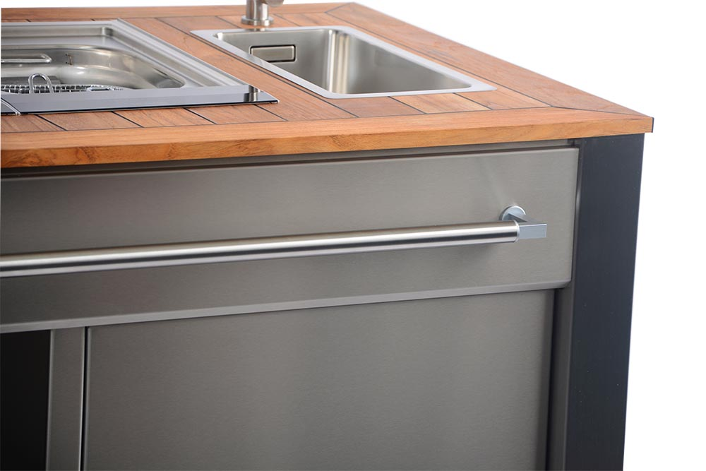 Outdoor Küche Mit Friteuse : Individuelle outdoor küchen aus edelstahl hiska