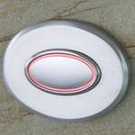 Türklingel aus Edelstahl im ovalen Design