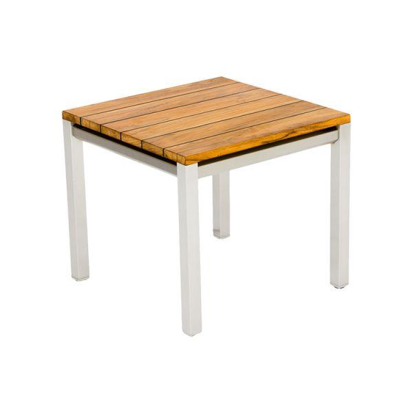 Gartenmöbel Edelstahl, Gartentisch aus Edelstahl und Teakholz