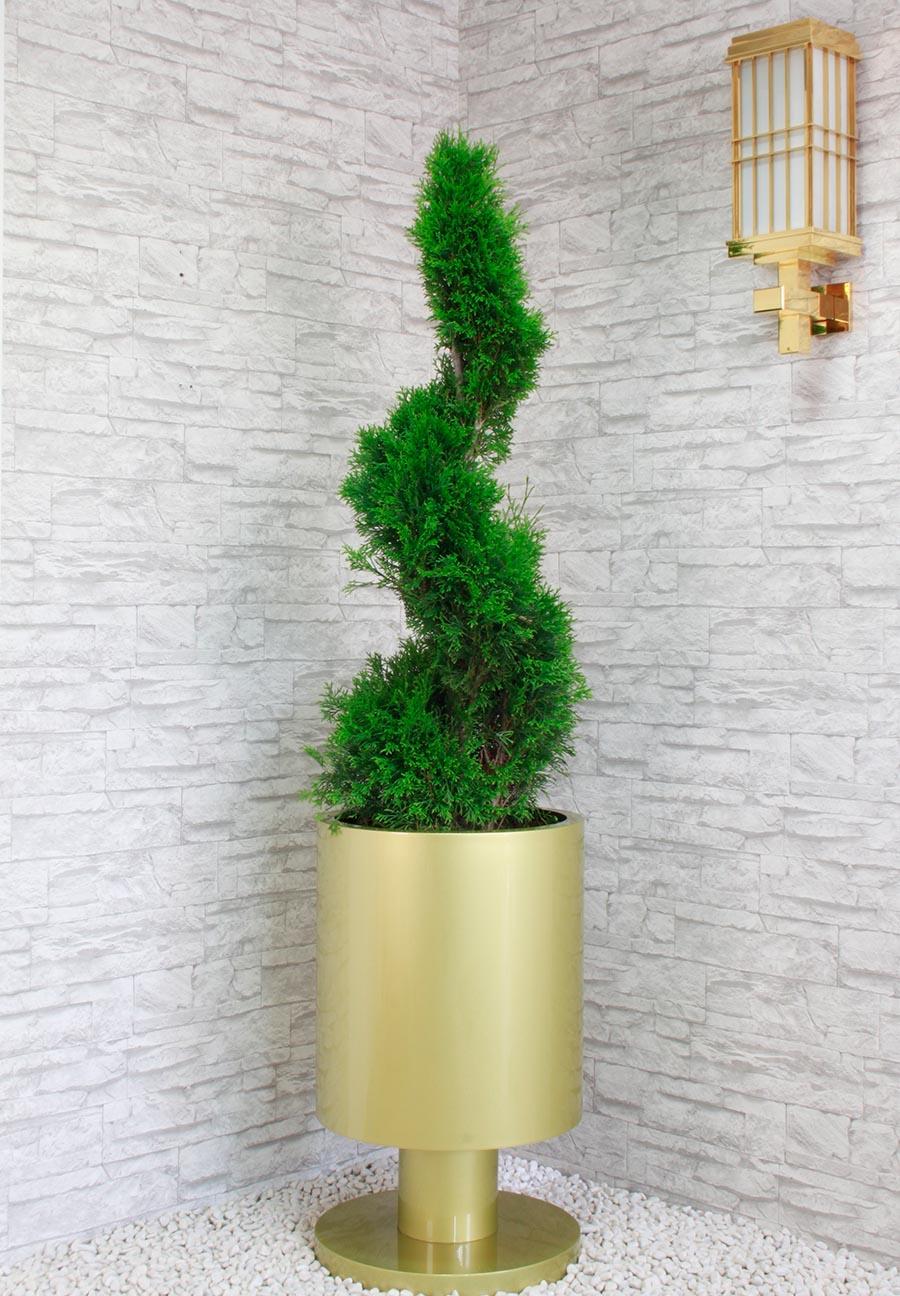 Pflanzkübel aus Edelstahl