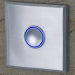 Türklingel aus Edelstahl im quadratischen Design
