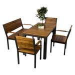 """Gartenmöbel Edelstahl, Sitzgruppe bestehend aus: <br>Bank """"Avignon"""", Stuhl """"Nizza"""" und Tisch """"Menton"""""""