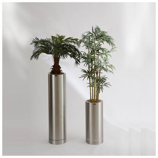 Pflanzkübel aus Edelstahl rund, verschiedene Größen