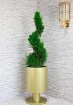 Pflanzkübel aus Edelstahl frostbeständig