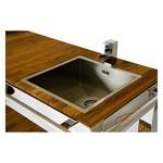 """Outdoor Küche aus Edelstahl, Modell """"Saint-Tropez"""" Detail: Spülbecken"""